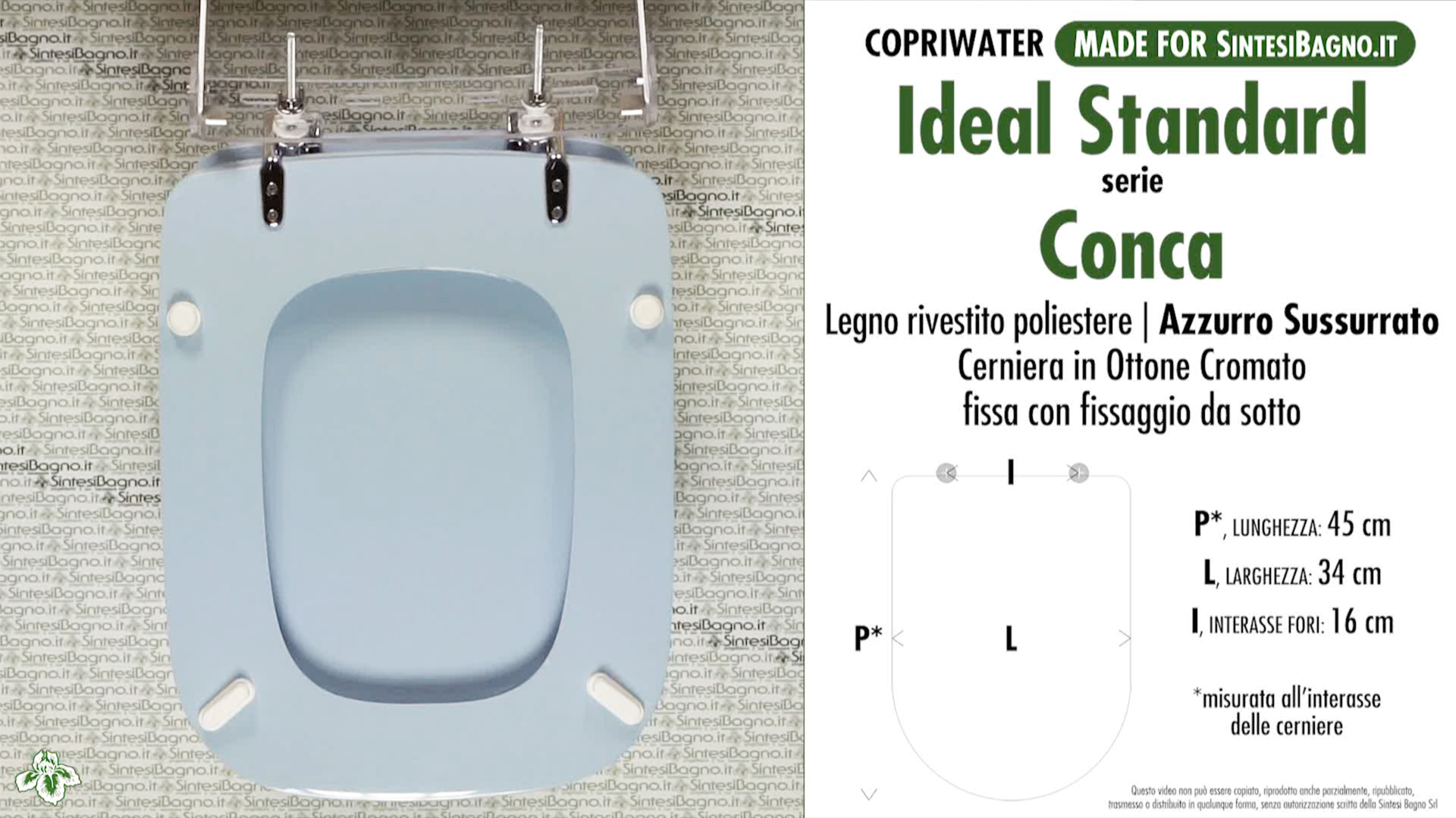 Schede tecniche misure copriwater ideal standard serie conca for Conca ideal standard