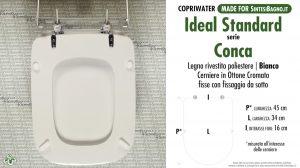 SCHEDA TECNICA MISURE copriwater IDEAL STANDARD CONCA