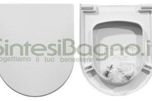 WC-Sitz/Toilettensitz CATALANO WC ZERO 54 Reihe. Thermoverformt.