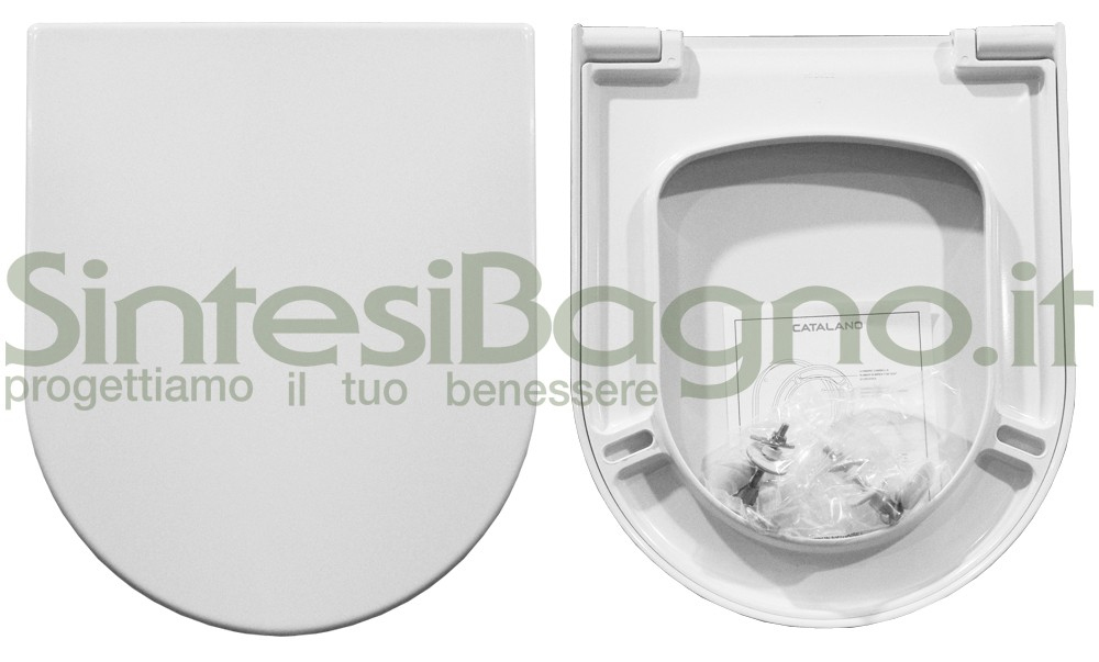 WC-Sitz/Toilettensitz CATALANO WC ZERO 54 Reihe. Thermoverformt.