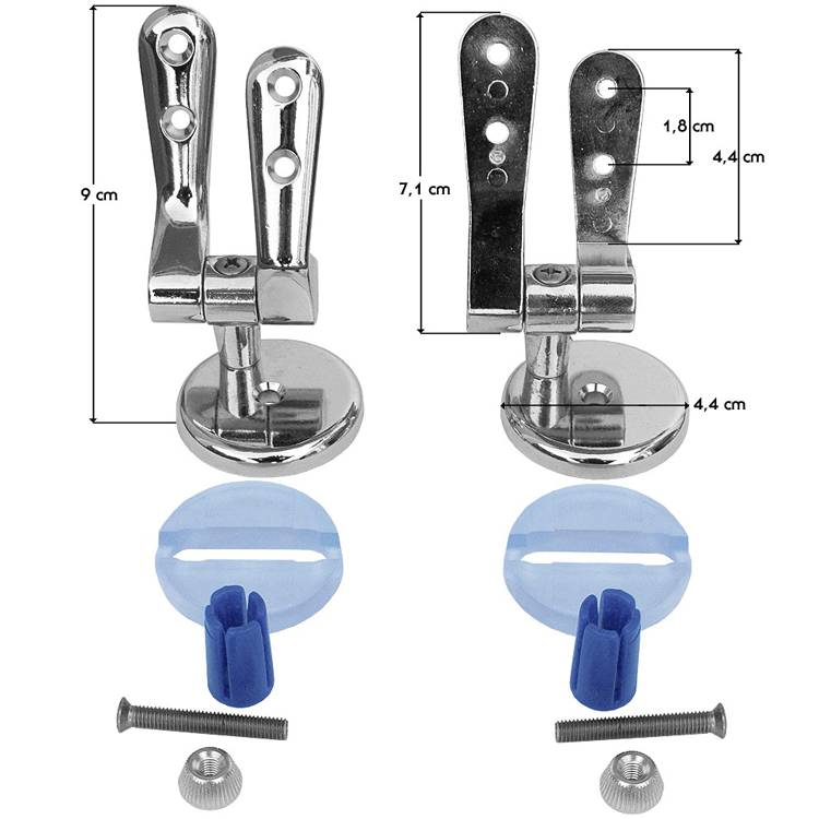Ricambio cerniere copriwater kit adatti ai vari copriwater for Copriwater leroy merlin
