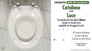 SCHEDA TECNICA MISURE copriwater CATALANO LUCE