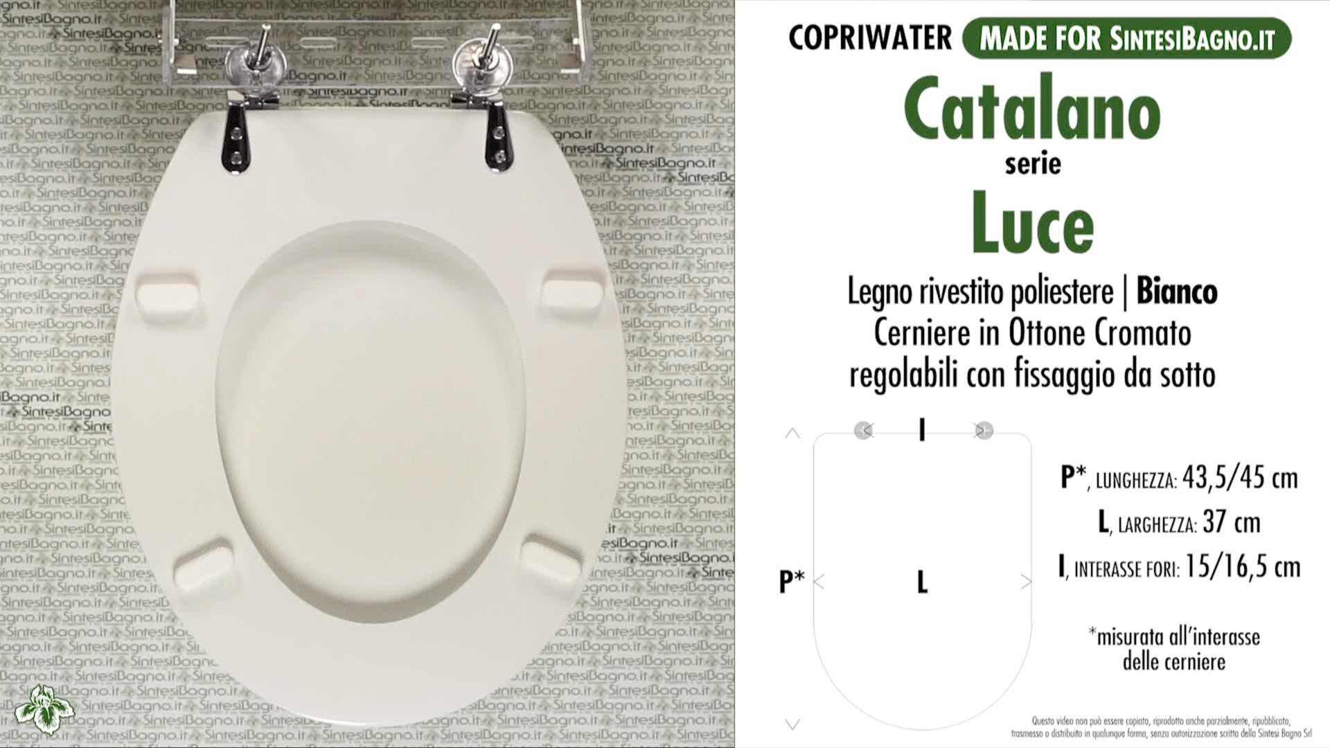 Ceramica Catalano Serie Luce.Schede Tecniche Misure Copriwater Catalano Serie Luce