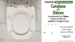 SCHEDA TECNICA MISURE copriwater CATALANO ODEON