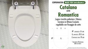 SCHEDA TECNICA MISURE copriwater CATALANO ROMANTICA