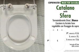 SCHEDA TECNICA MISURE copriwater CATALANO SFERA 50/52/53/54