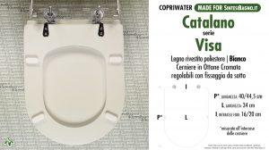 SCHEDA TECNICA MISURE copriwater CATALANO VISA