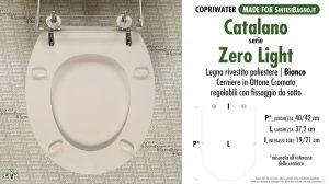SCHEDA TECNICA MISURE copriwater CATALANO ZERO LIGHT