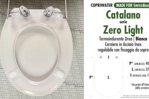 CHEDA TECNICA MISURE copriwater CATALANO ZERO LIGHT