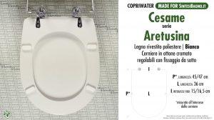 SCHEDA TECNICA MISURE copriwater CESAME ARETUSINA