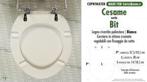 SCHEDA TECNICA MISURE copriwater CESAME BIT