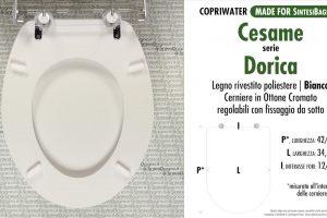 SCHEDA TECNICA MISURE copriwater CESAME DORICA