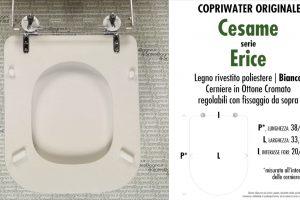 SCHEDA TECNICA MISURE copriwater CESAME ERICE