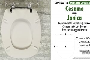 SCHEDA TECNICA MISURE copriwater CESAME JONICA