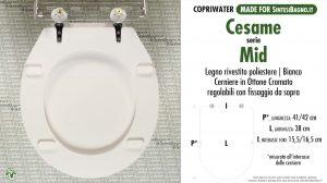 SCHEDA TECNICA MISURE copriwater CESAME MID