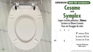 SCHEDA TECNICA MISURE copriwater CESAME SIMPLEX