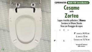 SCHEDA TECNICA MISURE copriwater CESAME ZORTEA