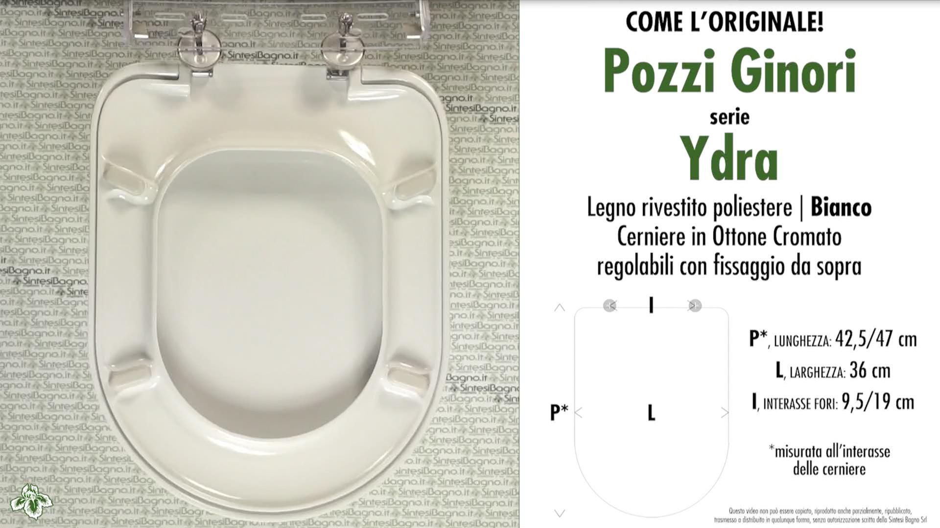 Schede tecniche Pozzi Ginori Ydra