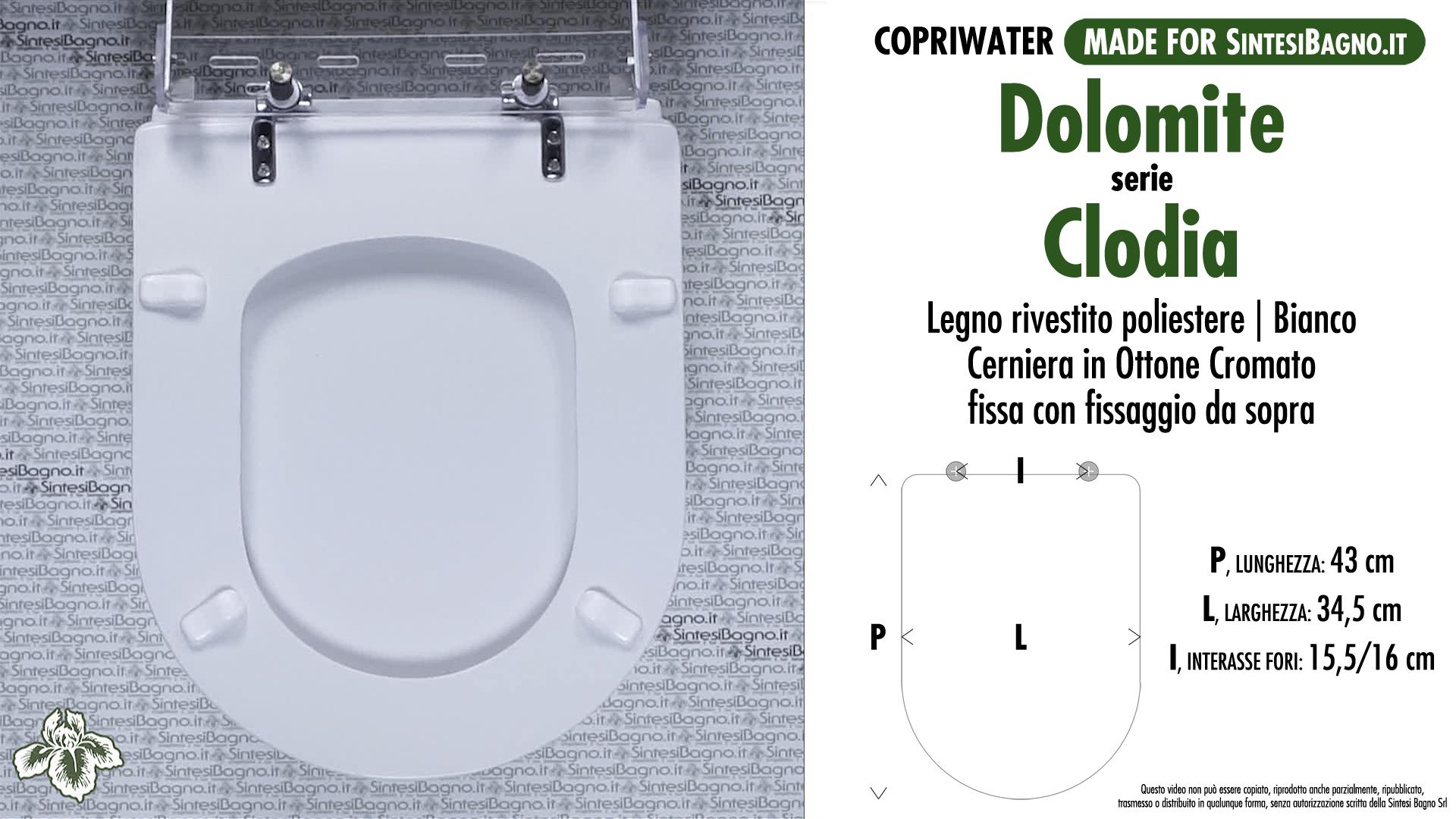 Schede tecniche misure copriwater dolomite serie clodia for Dolomite serie clodia