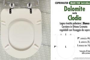 SCHEDA TECNICA MISURE copriwater DOLOMITE CLODIA