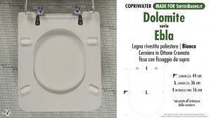 SCHEDA TECNICA MISURE copriwater DOLOMITE EBLA