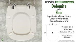 SCHEDA TECNICA MISURE copriwater DOLOMITE FLEO