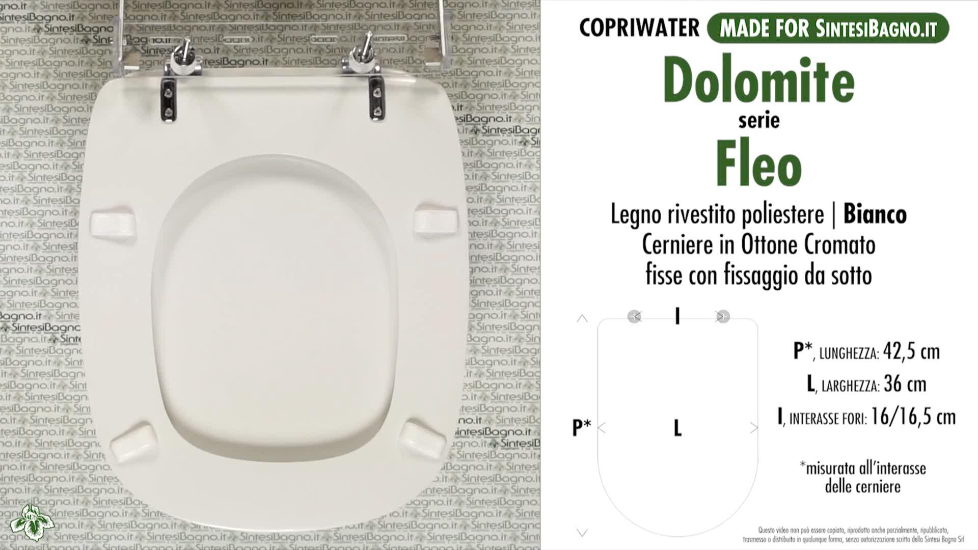 Ceramica Dolomite Serie Fleo.Schede Tecniche Misure Copriwater Dolomite Serie Fleo