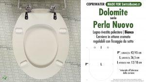 SCHEDA TECNICA MISURE copriwater DOLOMITE PERLA NUOVO