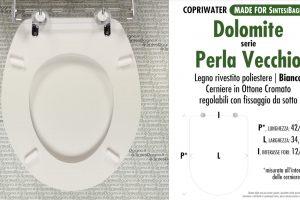 SCHEDA TECNICA MISURE copriwater DOLOMITE PERLA VECCHIO