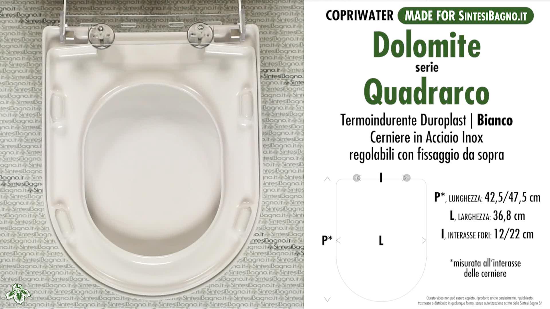 RE copriwater DOLOMITE QUADRARCO