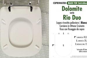 SCHEDA TECNICA MISURE copriwater DOLOMITE RIO DUO MONOBLOCCO