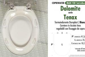 SCHEDA TECNICA MISURE copriwater DOLOMITE TENAX