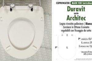 SCHEDA TECNICA MISURE copriwater LAUFEN/DURAVIT ARCHITEC