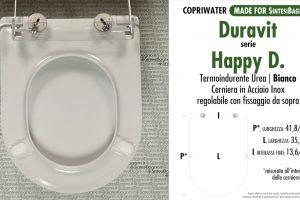 SCHEDA TECNICA MISURE copriwater LAUFEN/DURAVIT HAPPY D