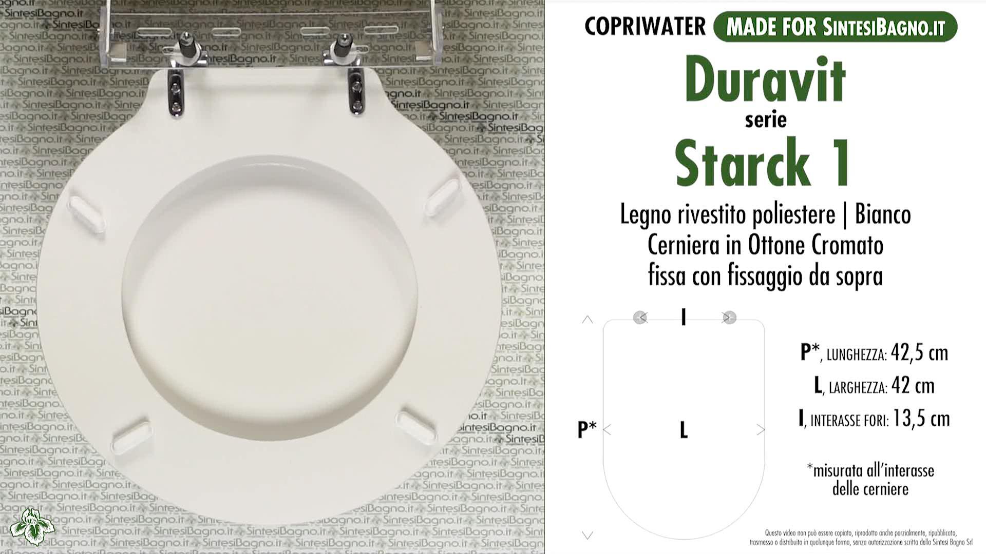 SCHEDA TECNICA MISURE copriwater LAUFEN/DURAVIT STARCK 1