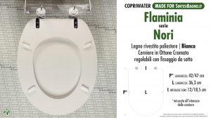 SCHEDA TECNICA MISURE copriwater FLAMINIA NORI