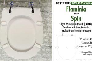 SCHEDA TECNICA MISURE copriwater FLAMINIA WEB