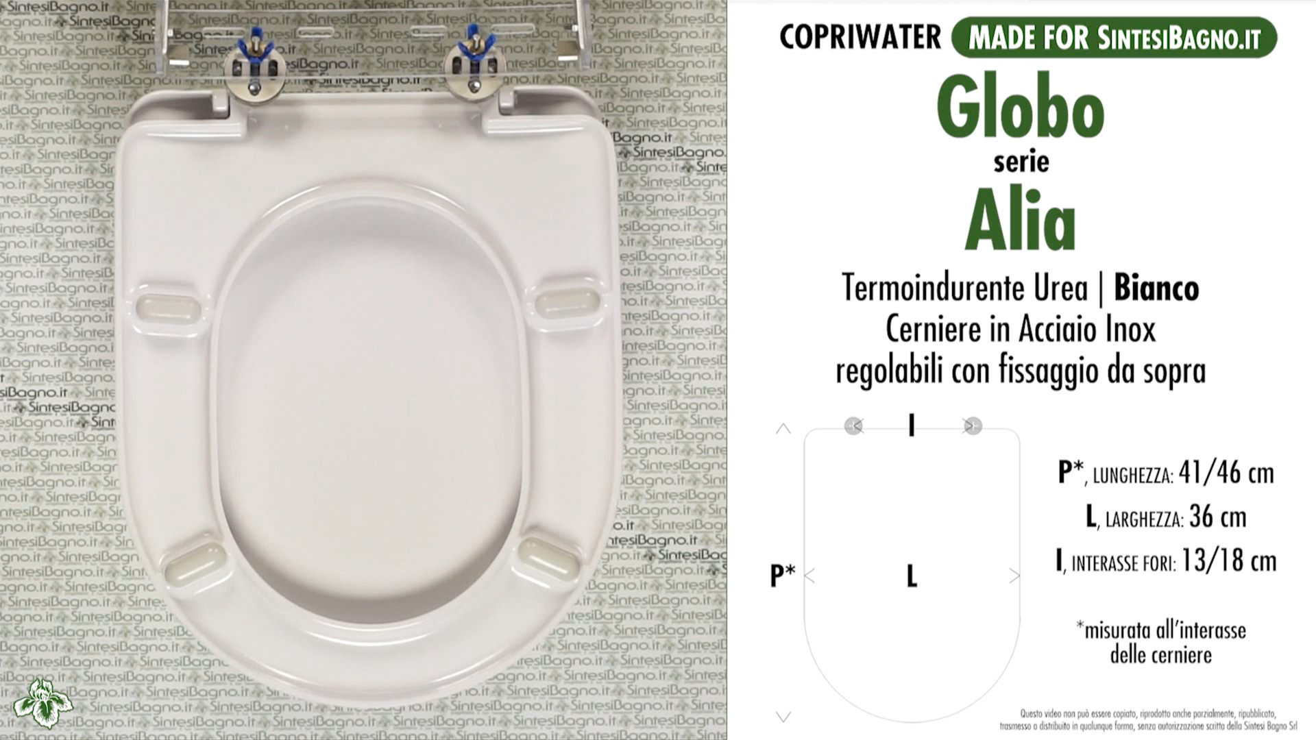 Schede tecniche misure copriwater globo serie alia for Copriwater globo serie lei