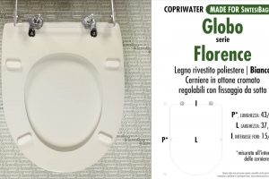 SCHEDA TECNICA MISURE copriwater GLOBO FLORENCE