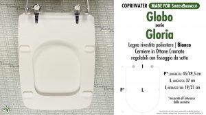 SCHEDA TECNICA MISURE copriwater GLOBO GLORIA
