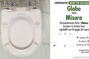 SCHEDA TECNICA MISURE copriwater GLOBO MISURA