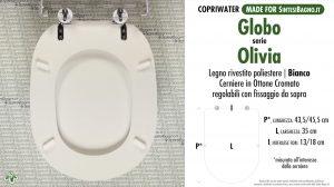 SCHEDA TECNICA MISURE copriwater GLOBO PAESTUM