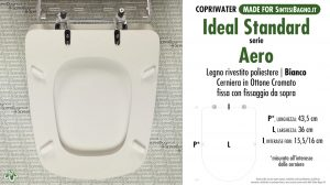 SCHEDA TECNICA MISURE copriwater IDEAL STANDARD AERO