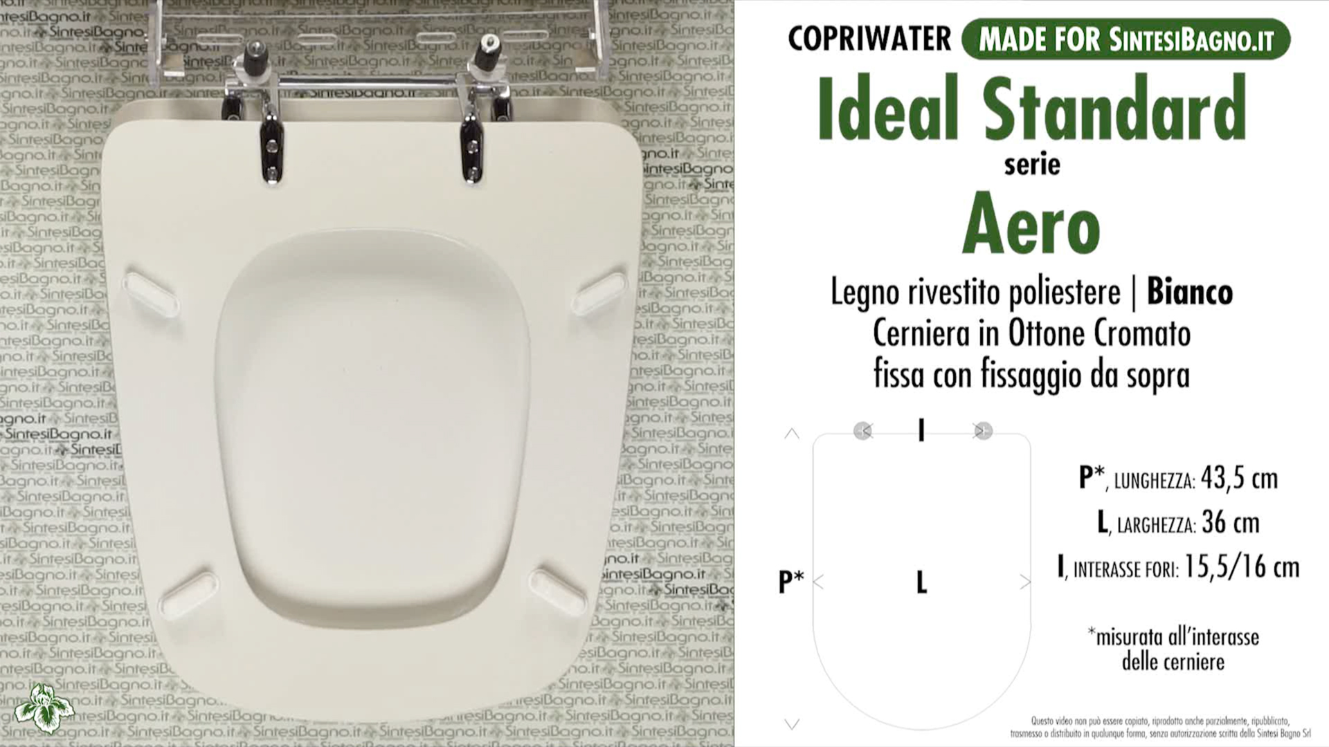schede tecniche misure copriwater ideal standard serie aero