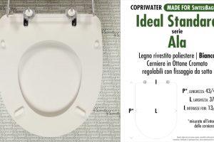 SCHEDA TECNICA MISURE copriwater IDEAL STANDARD ALA