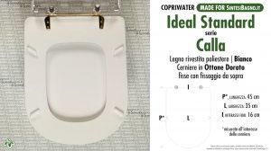 SCHEDA TECNICA MISURE copriwater IDEAL STANDARD CALLA