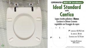 SCHEDA TECNICA MISURE copriwater IDEAL STANDARD CANTICA