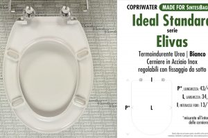 SCHEDA TECNICA MISURE copriwater IDEAL STANDARD ELIVAS