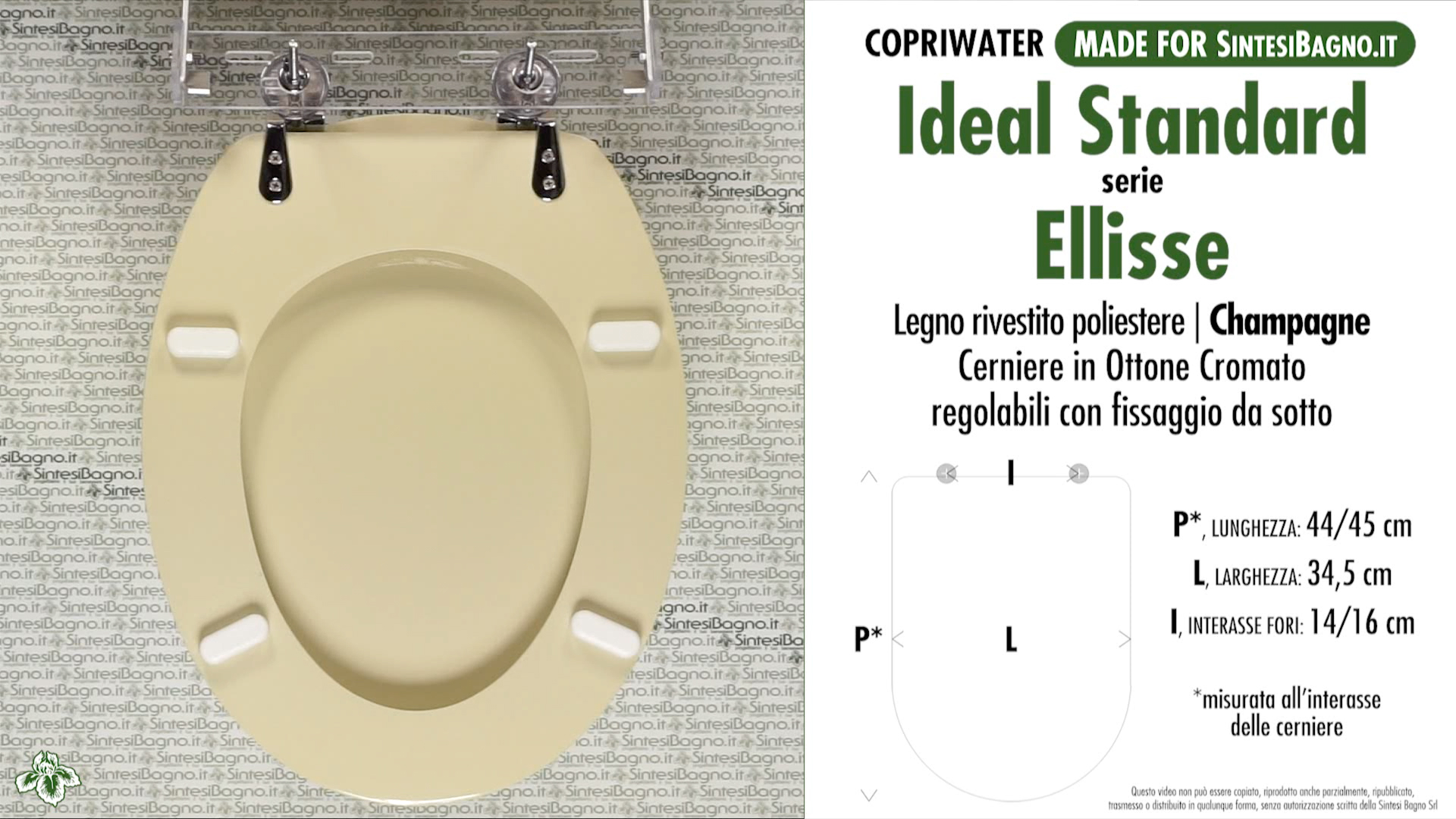 Schede tecniche misure copriwater ideal standard serie ellisse for Ideal standard cantica copriwater