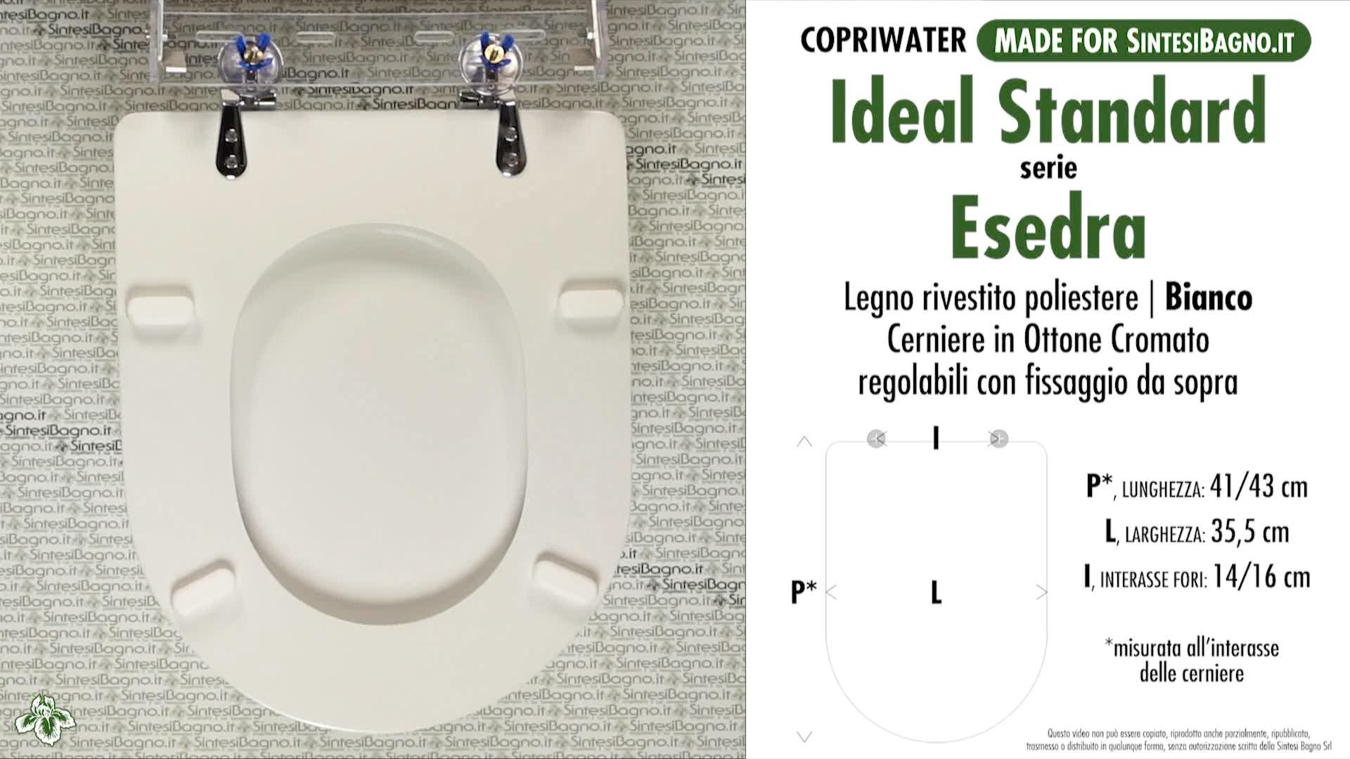 schede tecniche misure copriwater ideal standard serie esedra